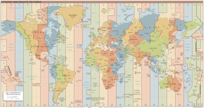 mapa huso horario